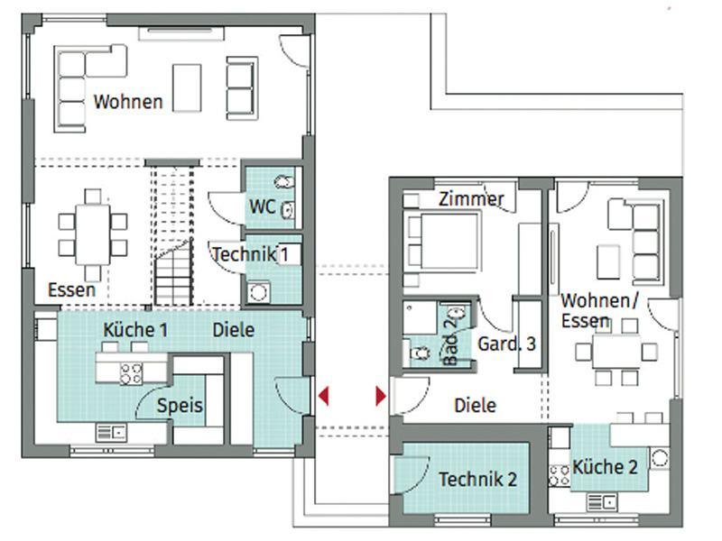 Grundriss Erdgeschoss Entwurf Privat 198 von Danwood