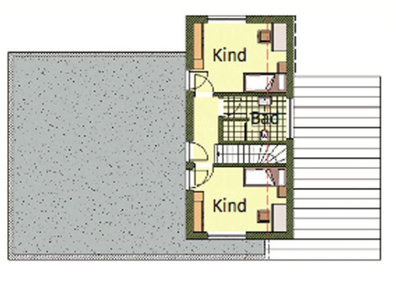 Grundriss Obergeschoss individuelles Kundenhaus Bettinghausen von Roreger