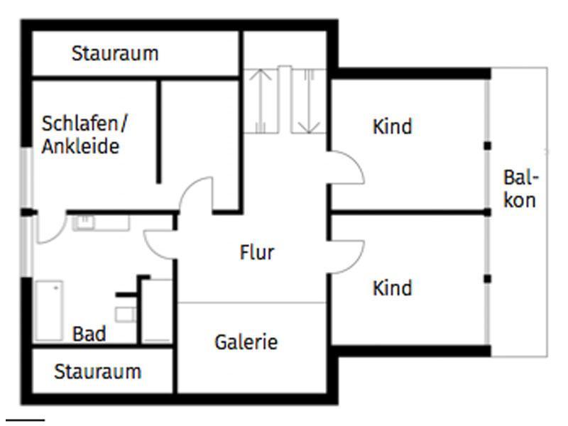 Grundriss Obergeschoss Entwurf Homestory 308 von Lehner Haus