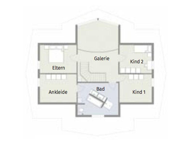 Grundriss Obergeschoss Kodiak Country von Léonwood