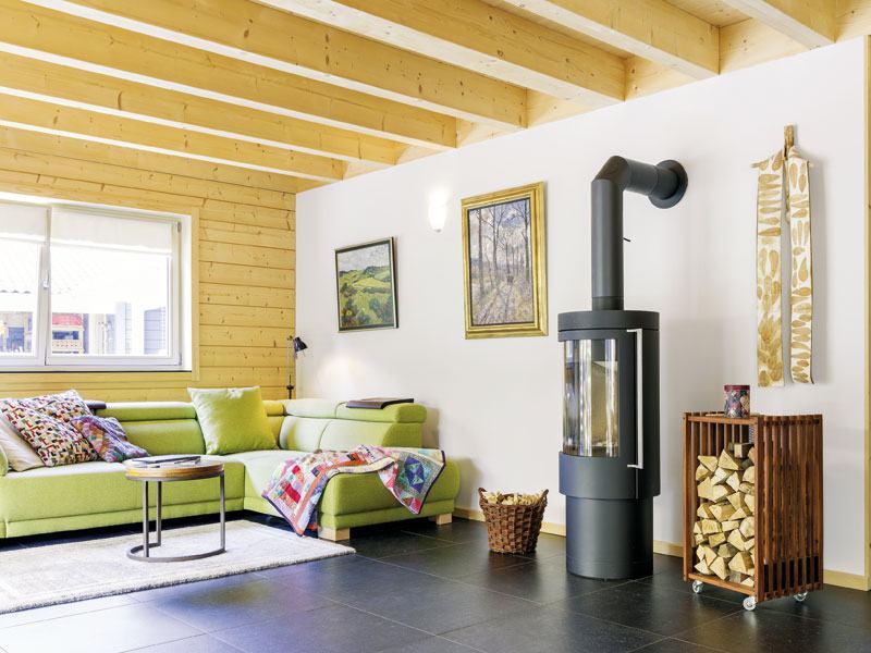 Entwurf Blauraute von Stommel Haus Wohnen Kamin