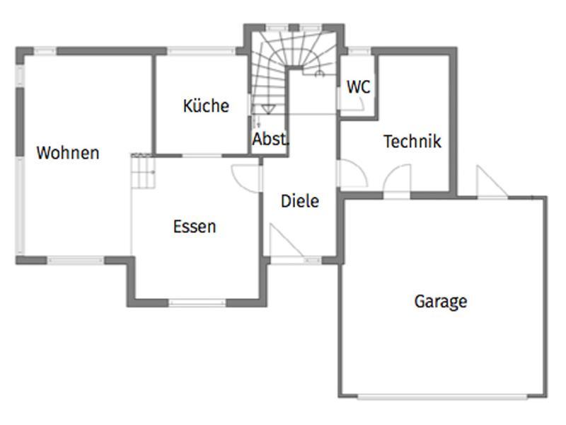 Grundriss Erdgeschoss Entwurf Erlach von Rems-Murr
