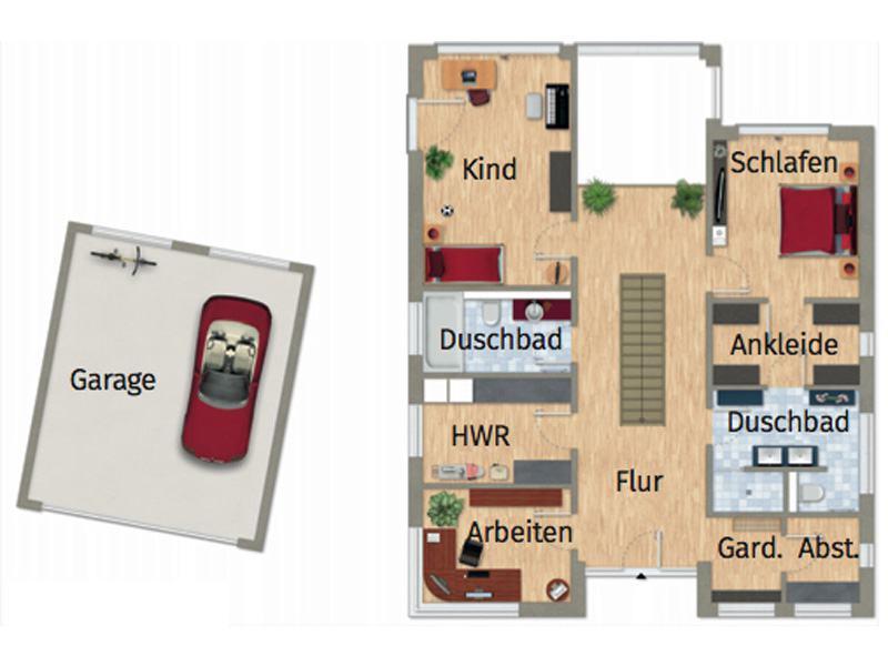 Grundriss Erdgeschoss Entwurf VarioContur 243 von Varioself