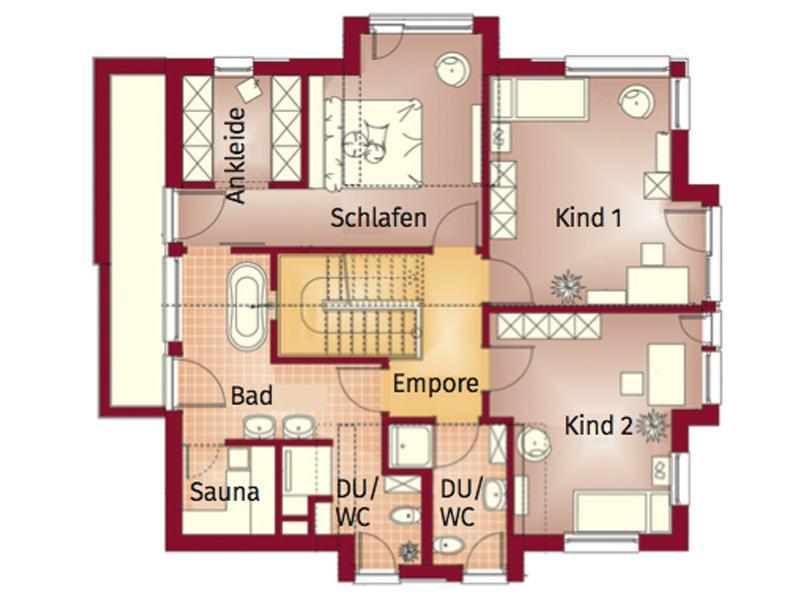 Grundriss Obergeschoss Concept-M 163 Dresden von Bien-Zenker