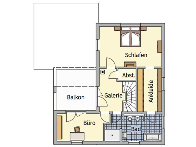 Grundriss Obergeschoss Entwurf Lageto von Fingerhut Haus