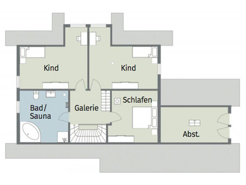 Grundriss Obergeschoss Entwurf Feodora von Léonwood