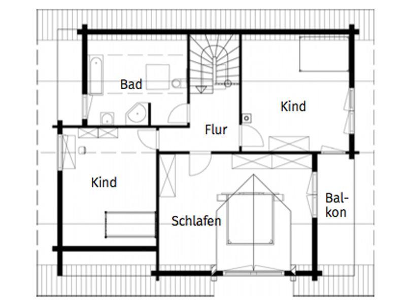 Grundriss Obergeschoss Entwurf Auenwald von Rems-Murr