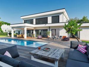 Entwurf Flachdach 300 von Luxhaus aussen