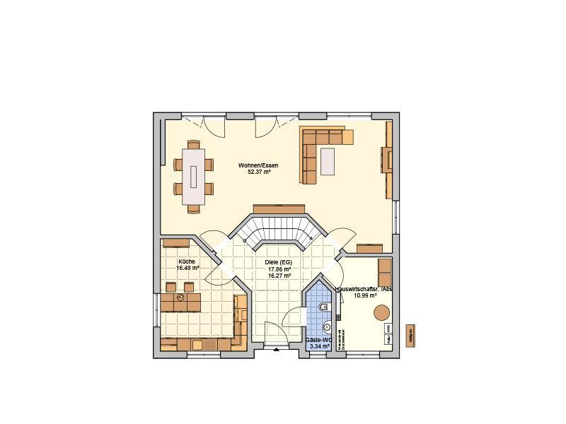 Grundriss Erdgeschoss Entwurf Klara von Fingerhut Haus