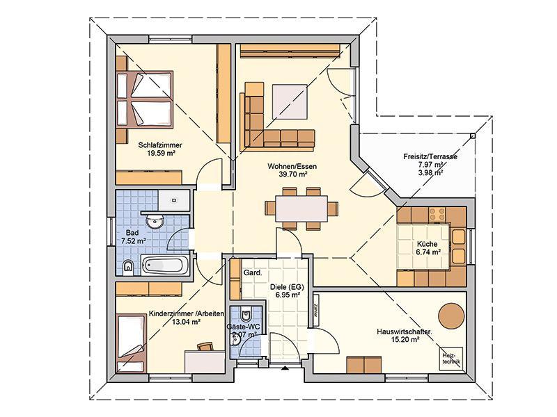 Grundriss Entwurf Mala von Fingerhut Haus
