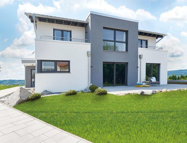 Musterhaus Stuttgart von Fingerhut Haus Terrasse2