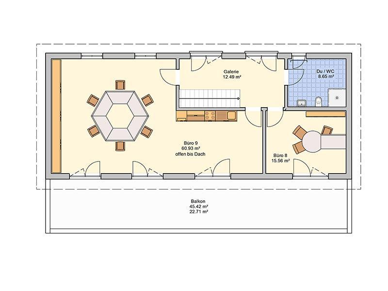 Grundriss Dachgeschoss Entwurf Tasko von Fingerhut Haus