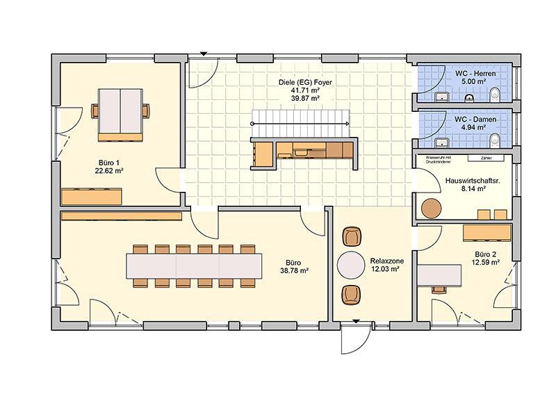 Grundriss Erdgeschoss Entwurf Tasko von Fingerhut Haus