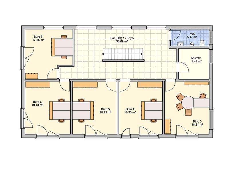 Grundriss Obergeschoss Entwurf Tasko von Fingerhut Haus
