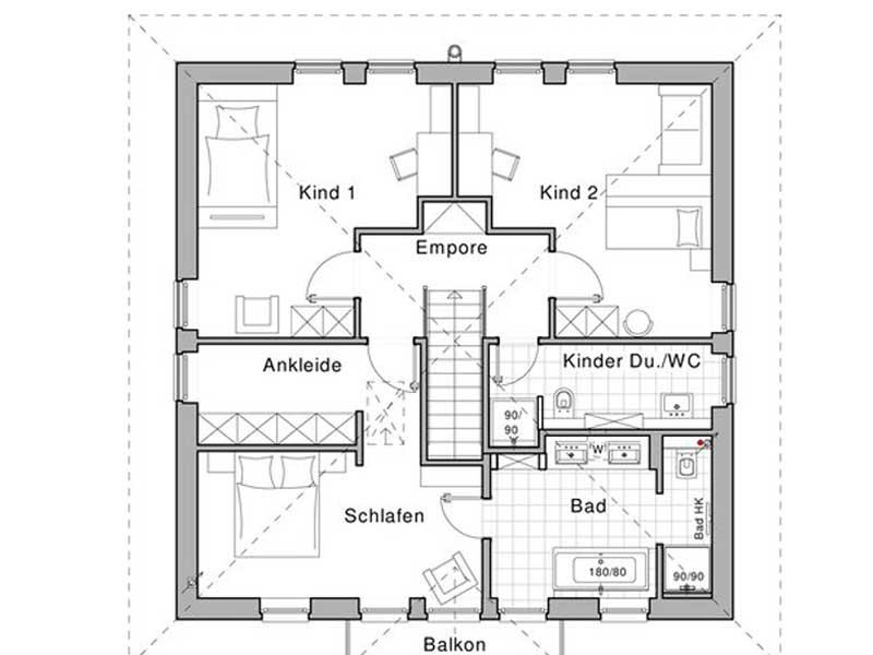 Grundriss Obergeschoss Life in Kaarst von Viebrockhaus
