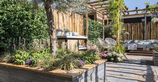 Garten mit Fertigheckenelementen von mobilane