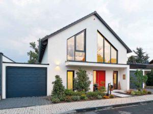 moderne Architektur Luxhaus Satteldach 165