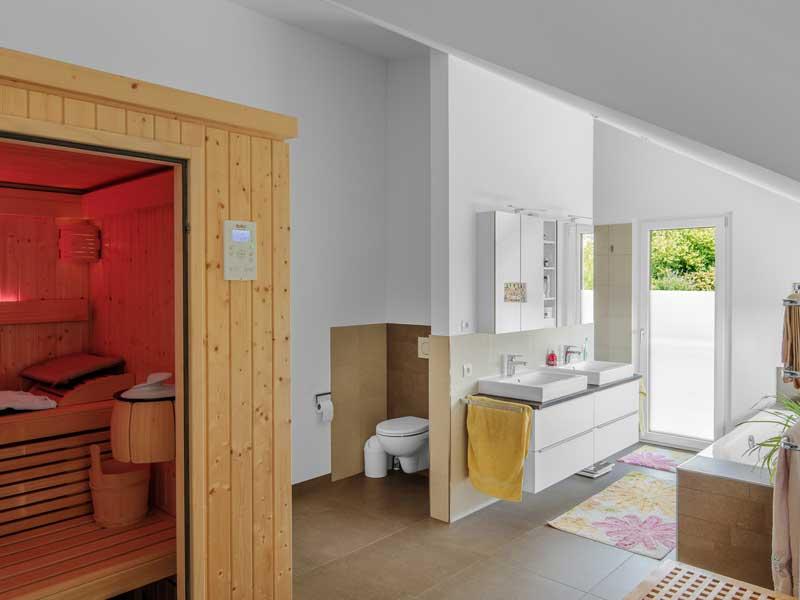 Kundenhaus Steinen-Haegelberg von Bittermann Weiss Sauna