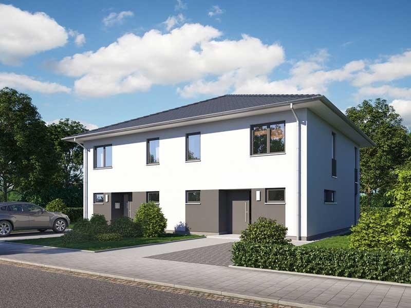 Doppelhaus L10 Putz von Heinz von Heiden Eingang