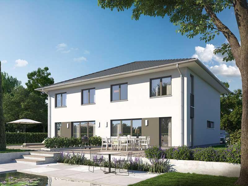 Doppelhaus L10 Putz von Heinz von Heiden Garten