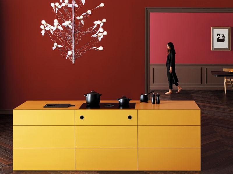 Farbe in der Küche Bora Goldküche