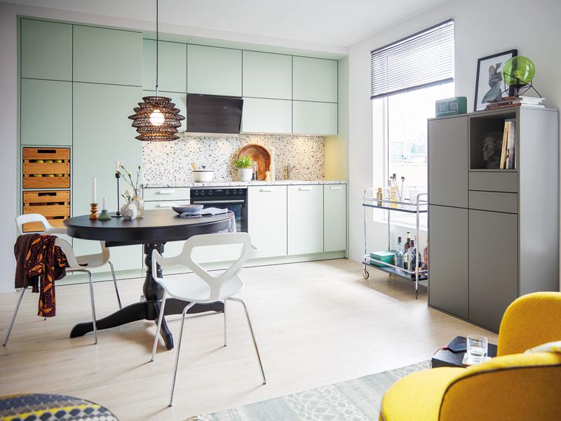 Farbe in der Küche Pistazie Schüller