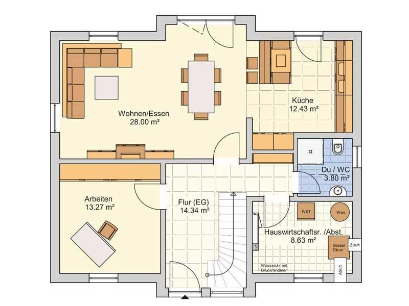 Grundriss Erdgeschoss Entwurf München von Fingerhut Haus