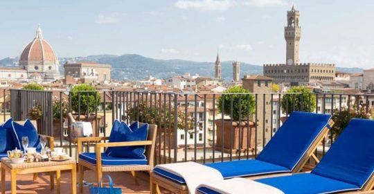 Dachterrasse Hotel Lungarno (Foto: Lungarno-Collection)