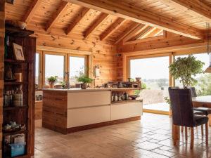 Blockhaus Halsbach von Chiemgauer Holzhaus kochen