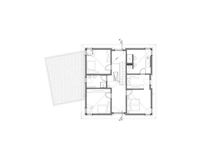 Grundriss Dachgeschoss Haus Haberer von Fertighaus Weiss