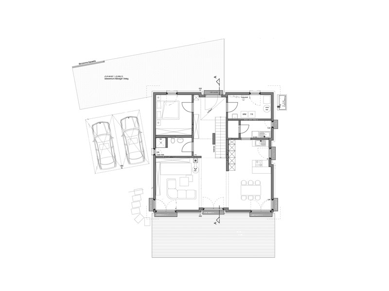 Grundriss Erdgeschoss Haus Haberer von Fertighaus Weiss