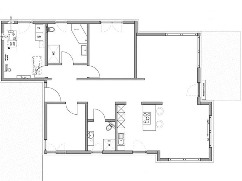 Grundriss Haus Birken von Fertighaus Weiss