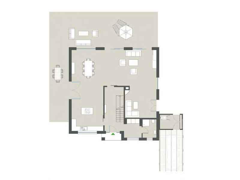 Grundriss Erdgeschoss Stadtvilla Jette von Gussek Haus