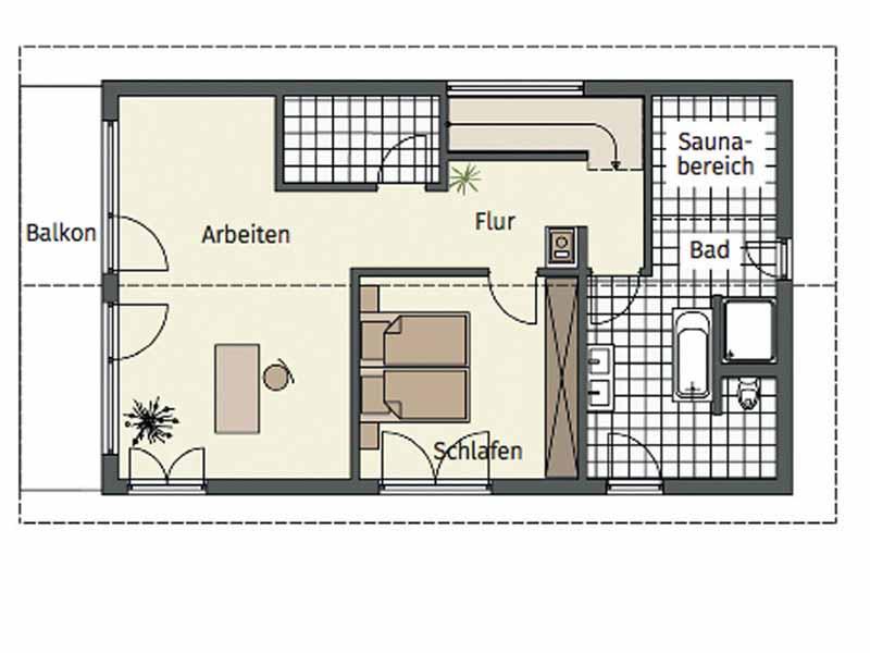Grundriss Obergeschoss Entwurf Kofelblick von Keitel Haus