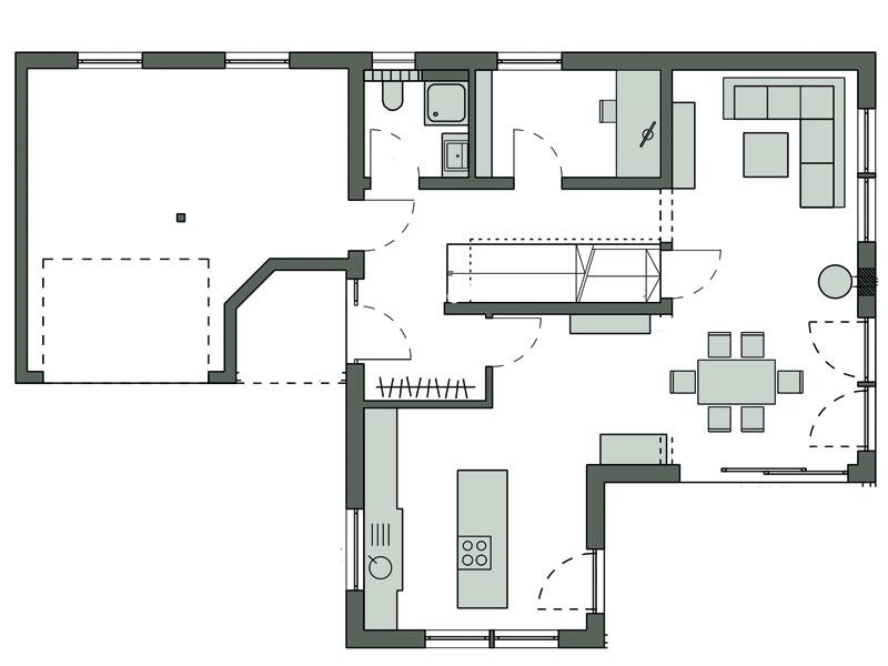 Grundriss Erdgeschoss Kundenhaus Graf von Schwörerhaus