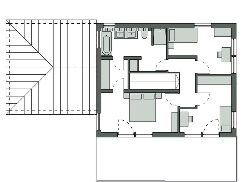 Grundriss Obergeschoss Kundenhaus Graf von Schwörerhaus