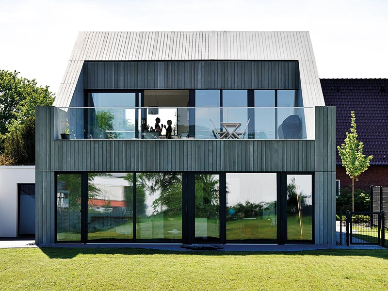 Architektenhaus aus Kalksandstein-Fertigmauerwerk