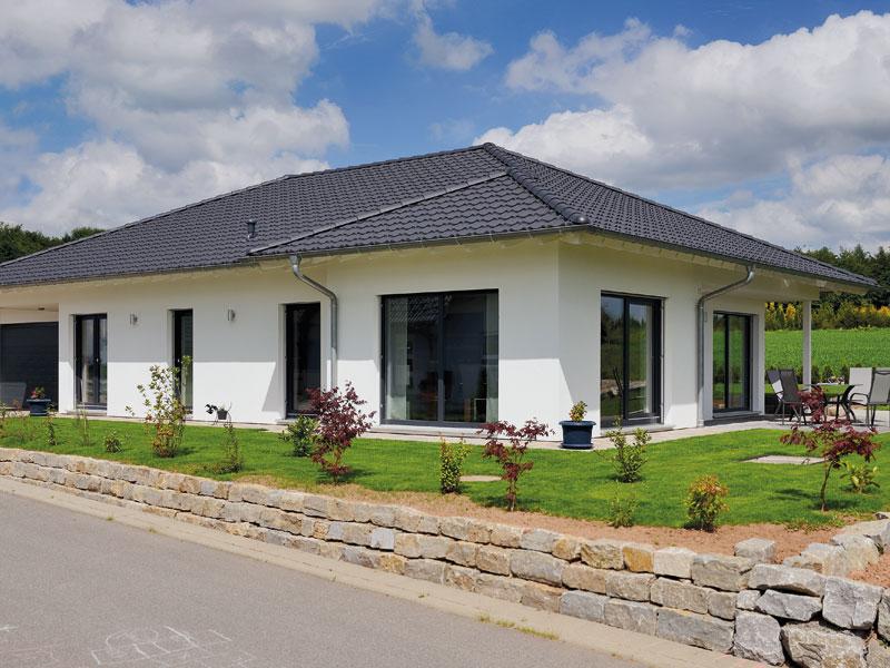 Haus Birken von Fertighaus Weiss aussen