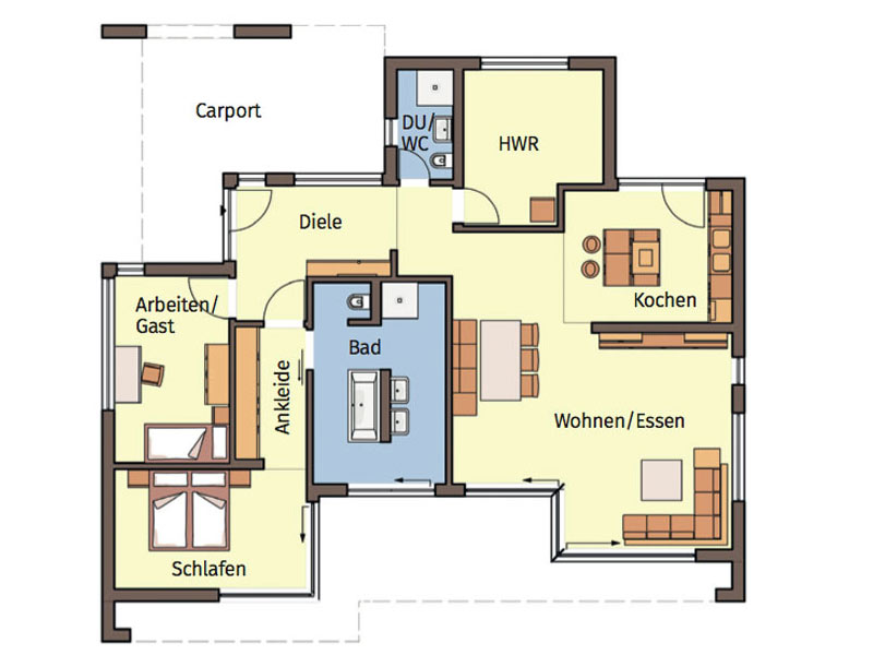 Grundriss Musterhaus Finess 134 von Büdenbender