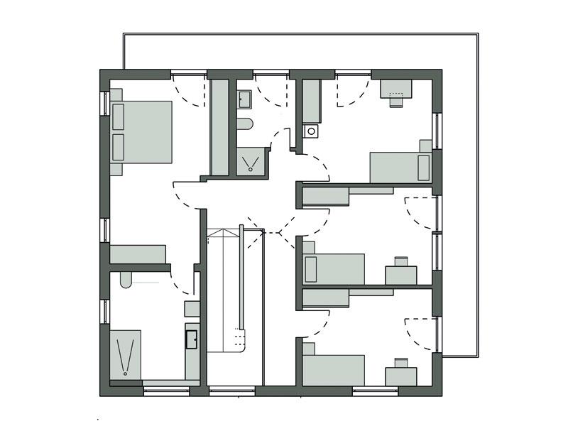 Grundriss Obergeschoss Koca von Schwörerhaus