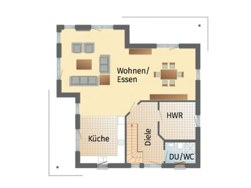 Grundriss Erdgeschoss Haus Handewitt von Danhaus