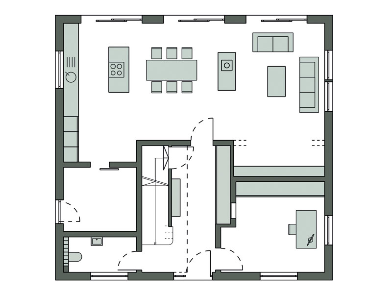 Grundriss Erdgeschoss Koca von Schwörerhaus