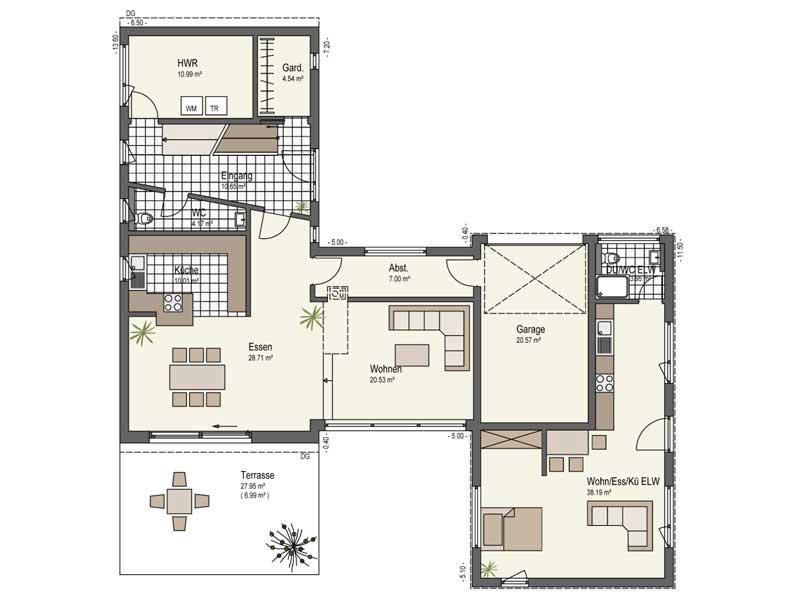 Grundriss Erdgeschoss Haus Landhege von Keitel Haus