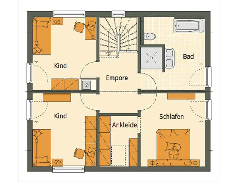 Grundriss Obergeschoss individuelle Planung Mikula von Living Haus