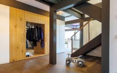 Eingebaute Garderobe im Flur