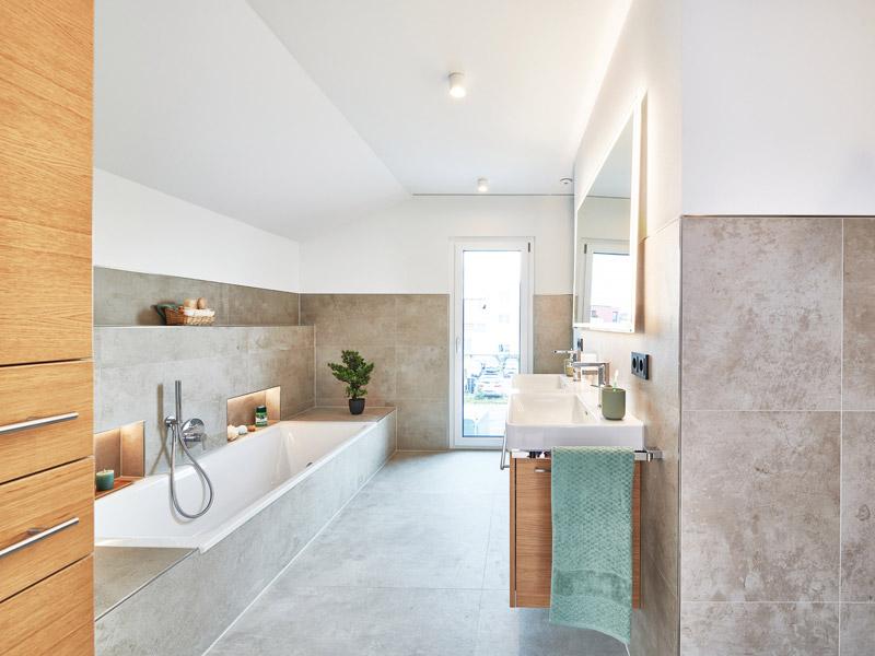 Badezimmer im Musterhaus Relax