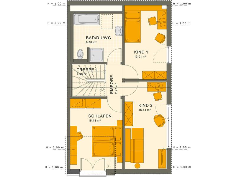 Obergeschoss SOLUTION 124 L V2