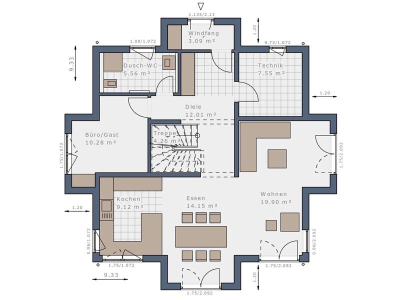 Solitaire-E- 145 -Erdgeschoss