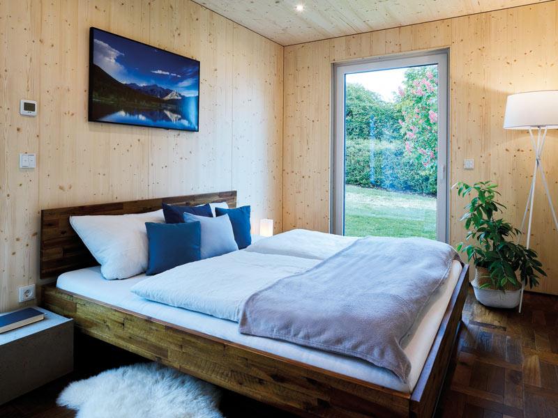 Schlafzimmer im Cubushome von Wolf System